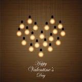 Balls lights arranged in a heart shape Stock Photo