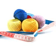 Balls and measuring tape Stock Photos