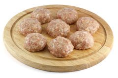 Balls of minced meat Stock Photo