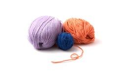 Balls of a multi-coloured yarn Stock Image