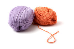 Balls of a multi-coloured yarn Royalty Free Stock Image