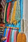 Balls of natural wool on the market, Tunisia Stock Images