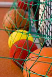 Balls in Net Royalty Free Stock Photos