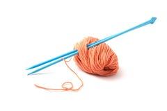 Balls Of A Yarn Knitting Spokes Stock Photography