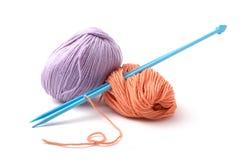 Balls Of A Yarn Knitting Spokes Stock Image