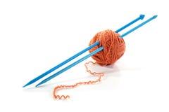 Balls Of A Yarn Knitting Spokes Royalty Free Stock Photography
