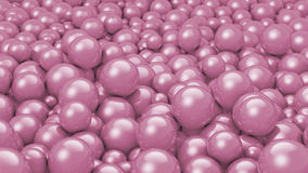 Balls Old Purple. A stack of thousands of old purple colored balls Stock Illustration