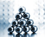Balls On Abstract Background Royalty Free Stock Photos