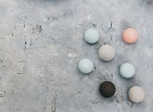 Balls On Stone Table. Abstract Background, Royalty Free Stock Photography