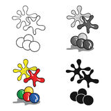 Balls for paintball icon in cartoon style isolated on white background. Paintball symbol stock vector illustration. Stock Images
