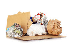 Balls of paper for recycling. Stock Images