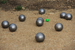 Balls for petanque. Royalty Free Stock Image