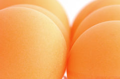 Balls of ping pong. Orange balls of ping pong Royalty Free Stock Photo