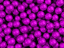 Balls pink glossy. 3d render glossy abstract balls background Stock Images