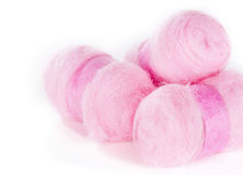 Balls of pink wool Stock Photography