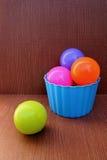 Balls in plastic box Stock Photo