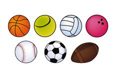 Balls for playing sports  Stock Images