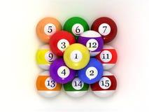 balls pool Στοκ Φωτογραφία