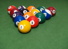 Balls on pool table Stock Images