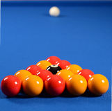 Balls on a pool table Royalty Free Stock Photo