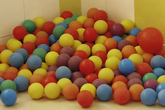 Balls Pre primary school. Play room Colorful balls School Stock Photos