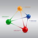Balls pyramid royalty free illustration