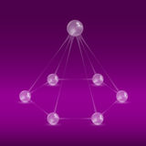 Balls pyramid vector illustration