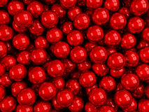 Balls red glossy Stock Image