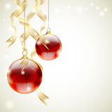 Balls and ribbons Royalty Free Stock Images