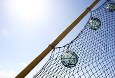 BALLS IN RIGGING Stock Photo