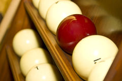 Balls for russian billiards. In holder stock photo