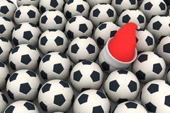 Balls and santa claus red hat Royalty Free Stock Photos