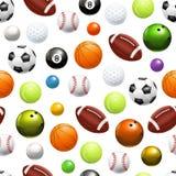 Balls, Seamless Pattern Royalty Free Stock Photos