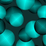 Balls seamless pattern. Circles 3D texture. Abstract background. For fabrics Stock Photos