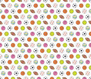 Balls, seamless pattern Stock Images