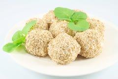 Balls with sesame Stock Image