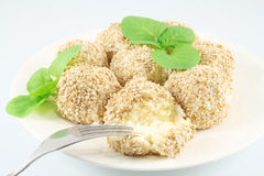 Balls with sesame Royalty Free Stock Images