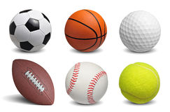 Balls set Royalty Free Stock Photo