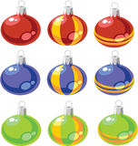 Balls set color 02. Vector. Balls xmas set color 02 vector illustration