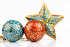 Balls and single big star Stock Photo