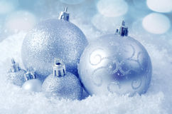 Balls on snow. Cristmas decoration, Balls on snow stock image