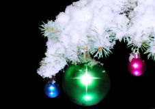Balls with snow-covered Stock Images