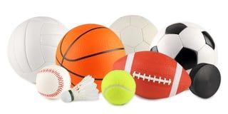 Balls in sport 3 stock photo