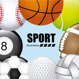 Balls sport Royalty Free Stock Photos