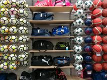 Balls and sports equipment Royalty Free Stock Photo