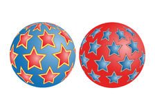 Balls with stars Royalty Free Stock Photo