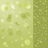 Balls and stars on a green background in vector Royalty Free Stock Image