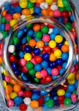 Balls of sugar and chewing gum Stock Photo