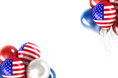 Balls with symbols of the U.S. Royalty Free Stock Photos