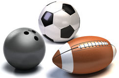 Balls for team sports Royalty Free Stock Photo